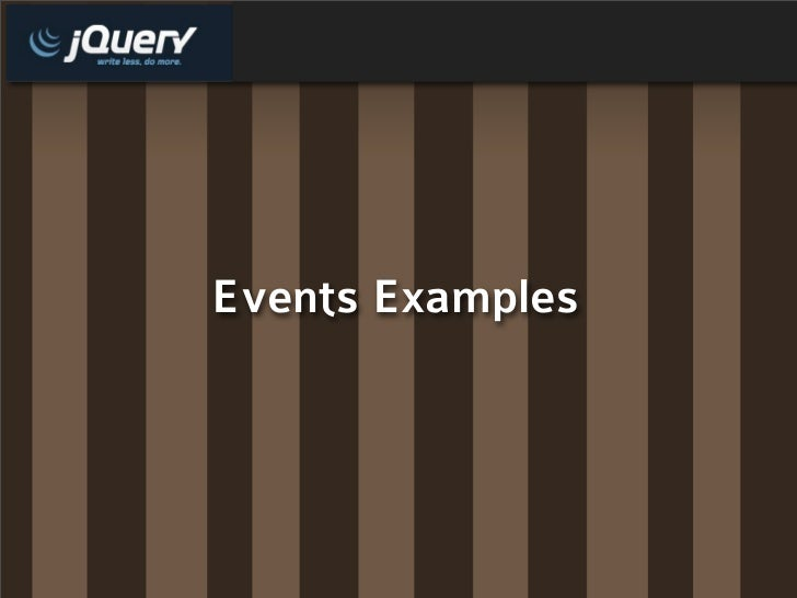 Events Examples