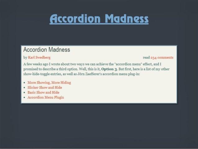 jQuery Accordion Menus
