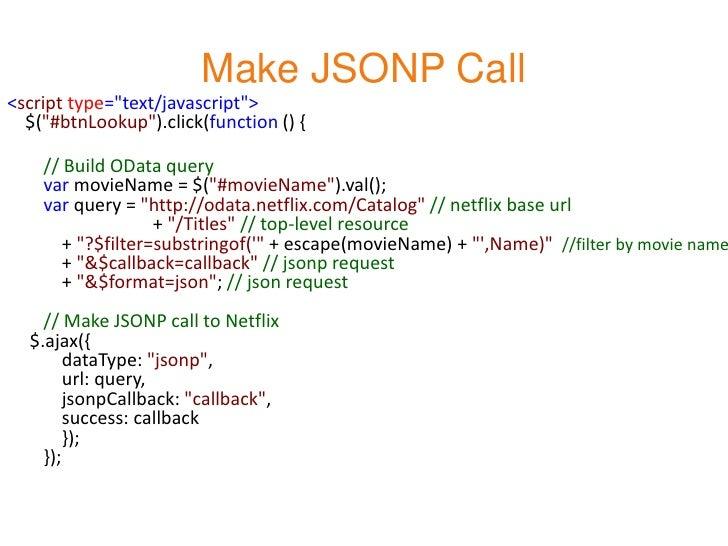 Make JSONP Call<script type=