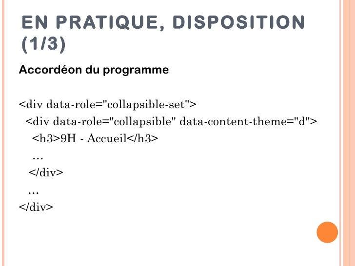 """EN PRATIQUE, DISPOSITION(1/3)Accordéon du programme<div data-role=""""collapsible-set""""> <div data-role=""""collapsible"""" data-con..."""