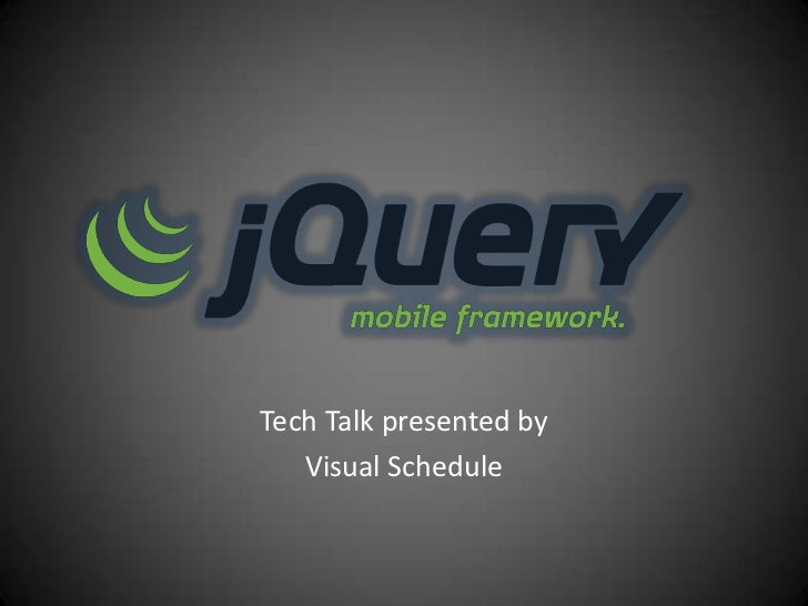 Tech Talk presented by   Visual Schedule