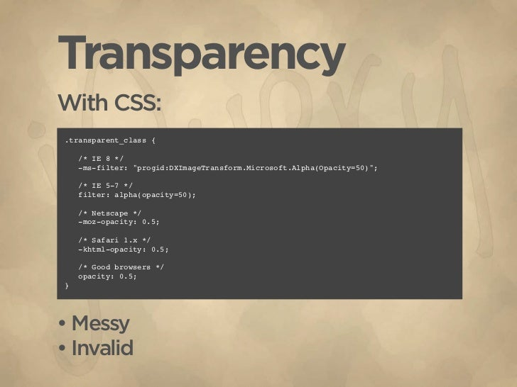 Using jQuery to Extend CSS Slide 3