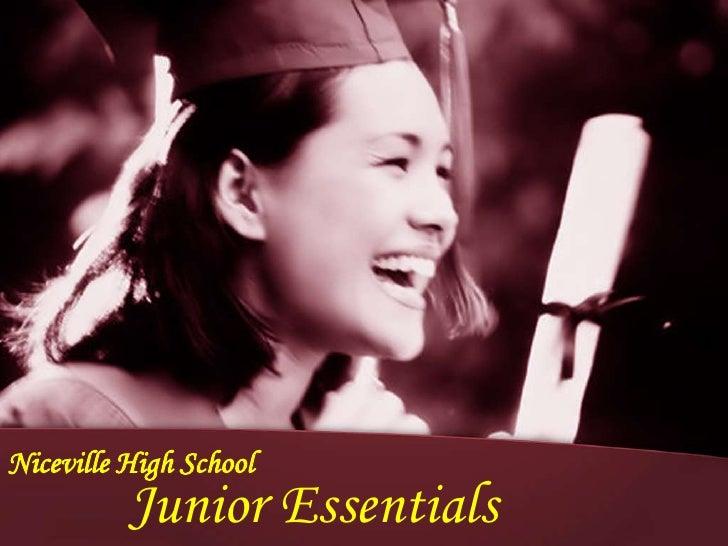 Niceville High School          Junior Essentials