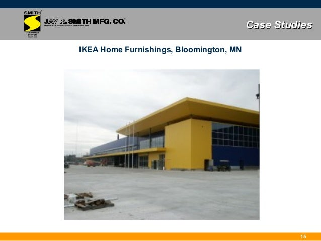 Jay r smith mfg co full bore siphonic roof drains for Ikea bloomington minnesota
