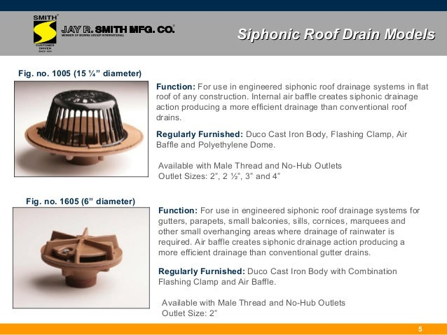 4; 7. Siphonic Roof Drain ...