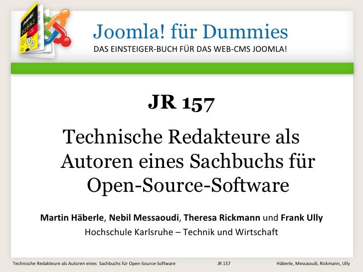 Joomla! für Dummies                                     DAS EINSTEIGER-BUCH FÜR DAS WEB-CMS JOOMLA!                       ...