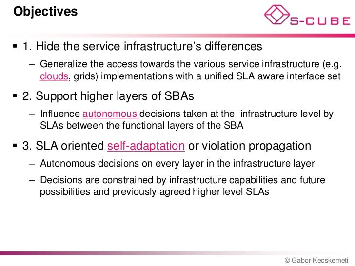 S Cube Lp Service Level Agreement Based Service Infrastructures In T