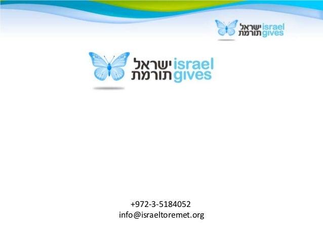 +972-3-5184052info@israeltoremet.org