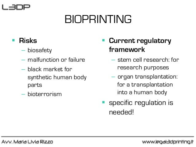 ethics of bioprinting 3d printing is one of the most innovative technologies in the current era, while 3d bioprinting is revolutionizing the medical technology industry bioprinting technology could help overcome the limitations of the current tissue engineering methods, including the problem of longer waiting times for.