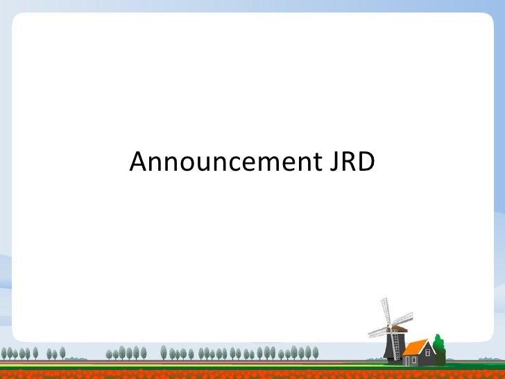 Announcement JRD