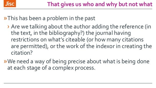 That gives us who and why but not what »This has been a problem in the past › Are we talking about the author adding the r...