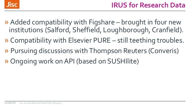 IRUS for Research Data » Added compatibility with Figshare – brought in four new institutions (Salford, Sheffield, Loughbo...