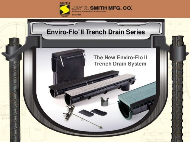 9930 Trench Drain System 9931 Trench Drain System Integral Rebar Mount 9849 Rante-Arrow Custom Factory Fabrications Male C...