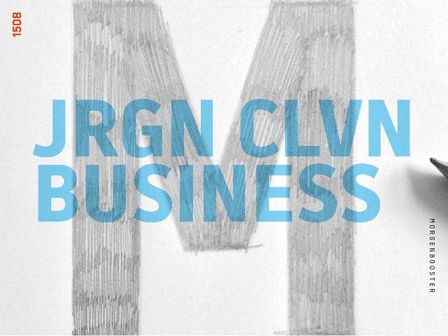 MORGENBOOSTER: JRGN CLVN BUSINESS  KENDER I DET NÅR…