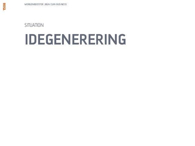 MORGENBOOSTER: JRGN CLVN BUSINESS  UNDERSØG 6 LØSNINGER TIL SAMME PROBLEM  1. TAG ET STYKKE A4. TEGN 6  FIRKANTER.  2. TEG...