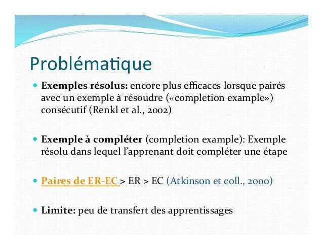 Probléma)que   — Options  pour  ↑  transfert  avec  les  ER   — Ajouter  une  activité  d'intégr...