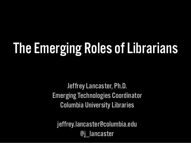 ACS Summer Institute - Emerging Roles of Librarians - 14_0731