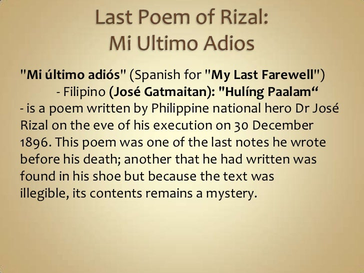 my last farewell tagalog