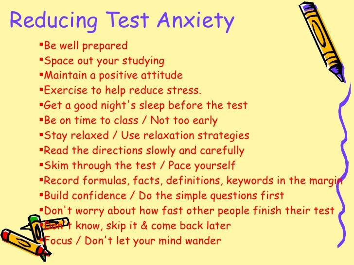 how to reduce math test anxiety