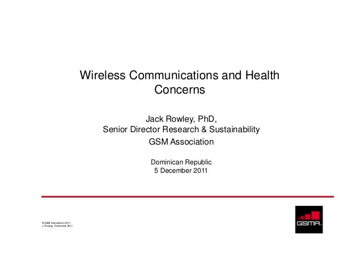 Wireless Communications and Health                                       Concerns                                         ...