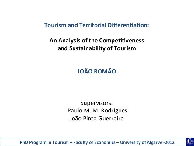 Tourism and Territorial Differen1a1on:                                                                      An ...