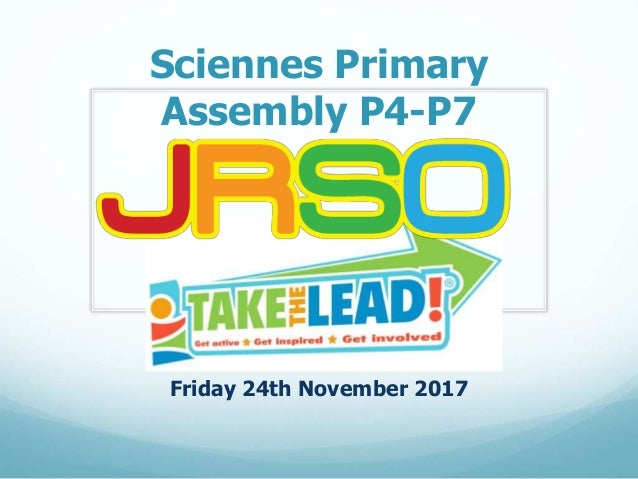 Sciennes Primary Assembly P4-P7 Friday 24th November 2017