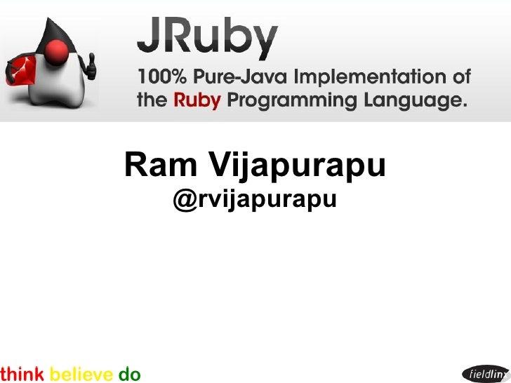 Ram Vijapurapu   @rvijapurapu
