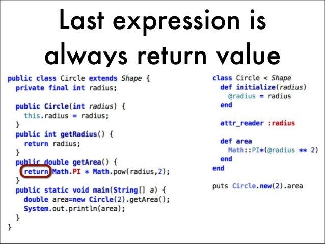 Last expression isalways return value