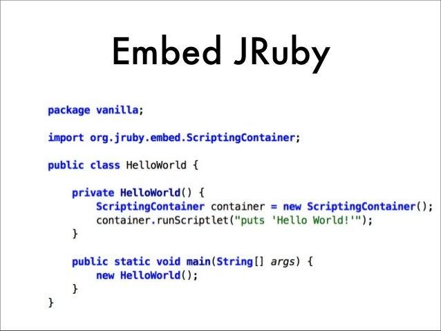 Embed JRuby