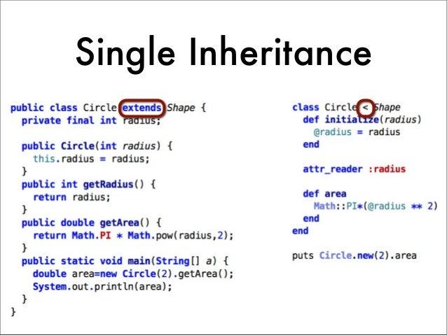 Single Inheritance