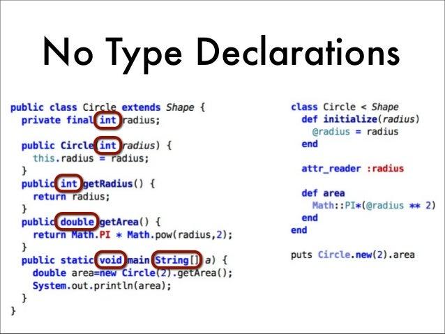 No Type Declarations