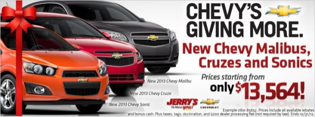 Chevy's Giving more at Jerry's Chevrolet in Baltimore ...