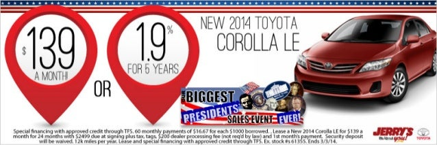 2014 Toyota Corolla at Jerry's Toyota in Baltimore, Maryland
