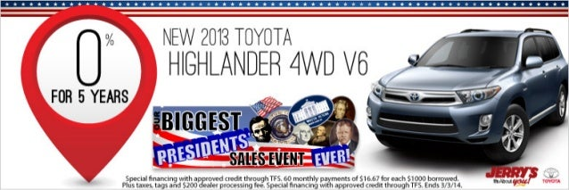 2013 Toyota Highlander at Jerrys Toyota in Baltimore, Maryland