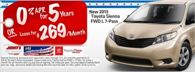 2013 Toyota Sienna at Jerry's Toyota in Baltimore, Maryland