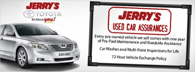 Jerry's Toyota Used Assurances in Baltimore, Maryland