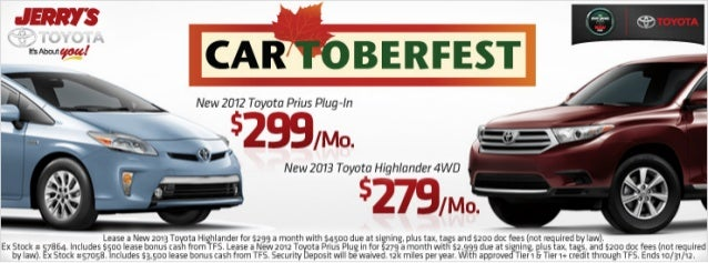 Cartoberfest Savings at Jerry's Toyota in Baltimore, Maryland
