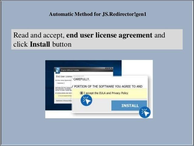 How to remove JS.Redirector!gen1