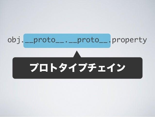 obj.__proto__.__proto__.property プロトタイプチェイン