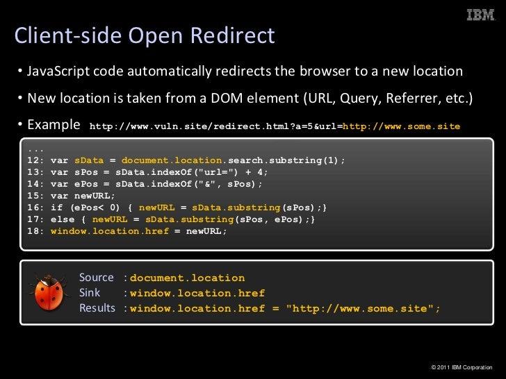 Client Side Javascript Vulnerabilities