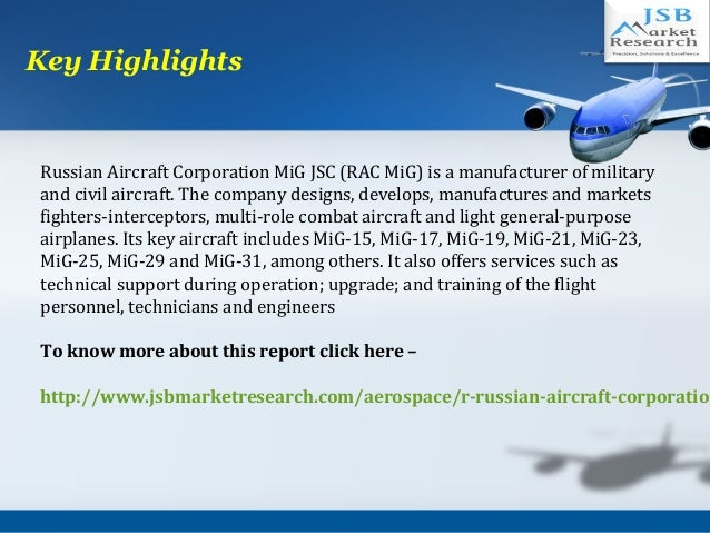 JSB Market Research: Russian Aircraft Corporation: Aerospace