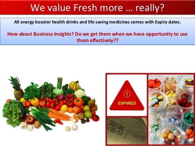 We value Fresh more … really? All energy booster health drinks and life saving medicines comes with Expiry dates. How abou...
