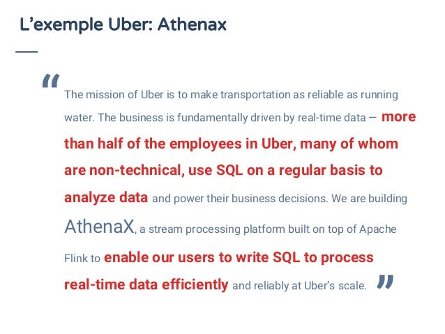 L'exemple Uber: Athenax The mission of Uber is to make transportation as reliable as running water. The business is fundam...
