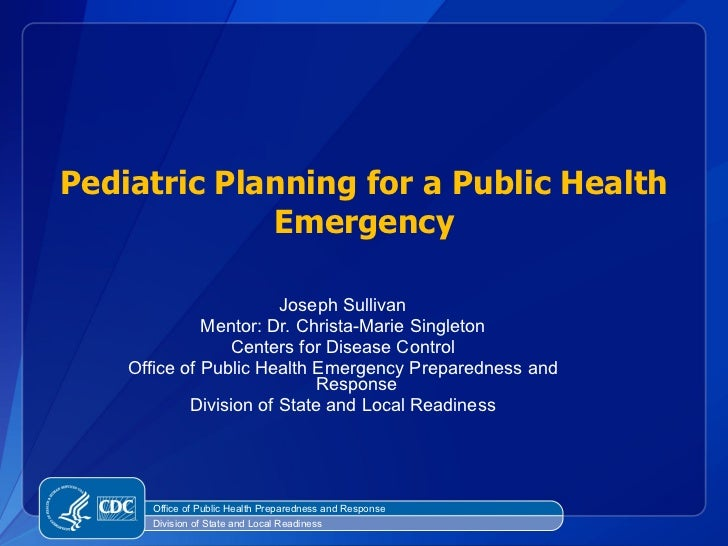 <ul><li>Joseph Sullivan </li></ul><ul><li>Mentor: Dr. Christa-Marie Singleton </li></ul><ul><li>Centers for Disease Contro...