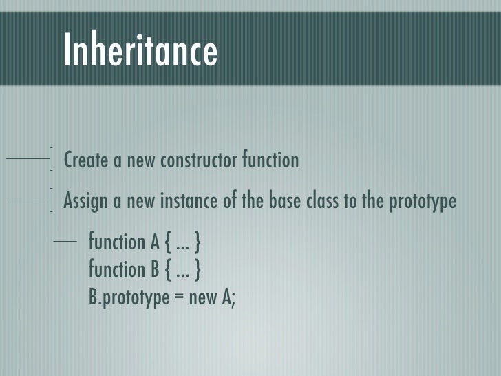 Javascript Classes And Inheritance