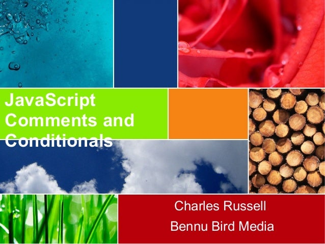 JavaScript Comments and Conditionals Charles Russell Bennu Bird Media