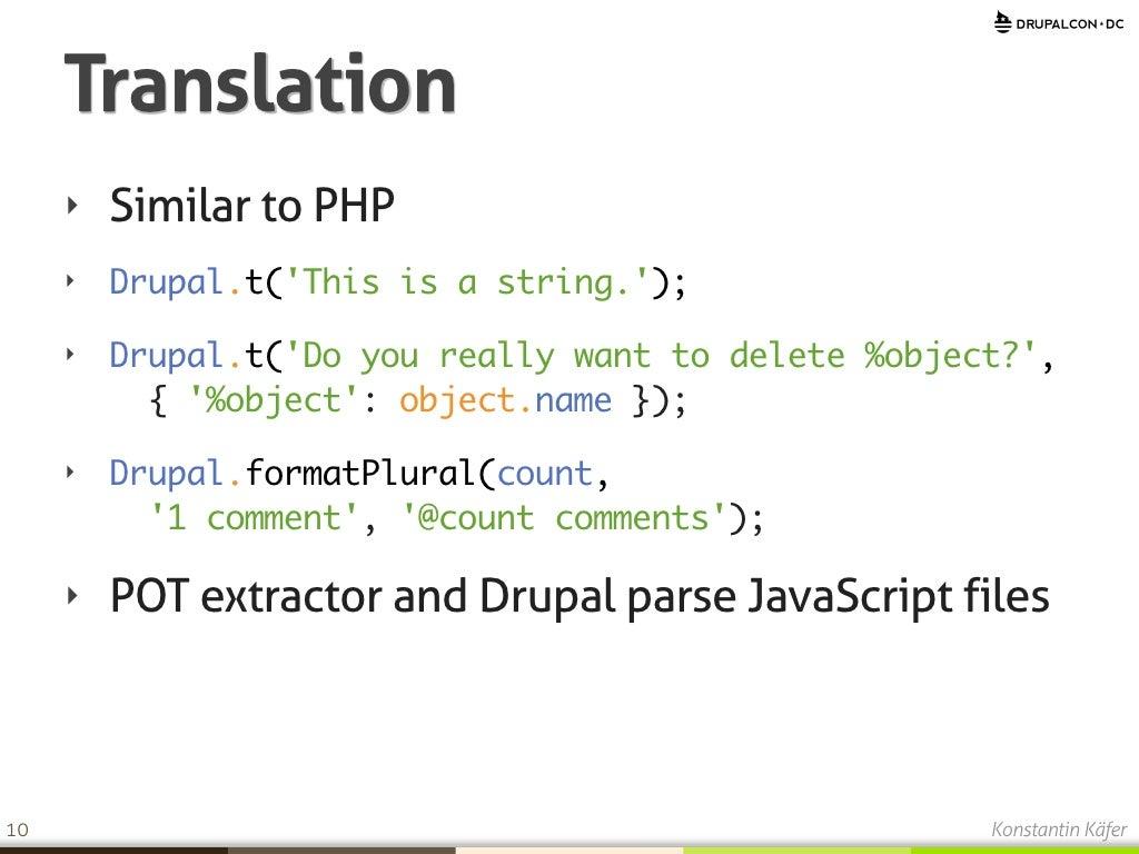 Translation Similar to PHP ‣