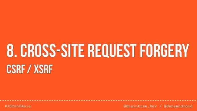 @Braintree_Dev / @SeraAndroid#JSConfAsia 9. Vulnerable Code