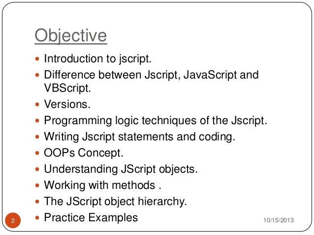Jscript part1
