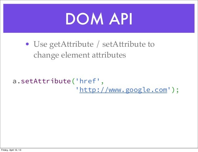 how to change element attribute with javascript